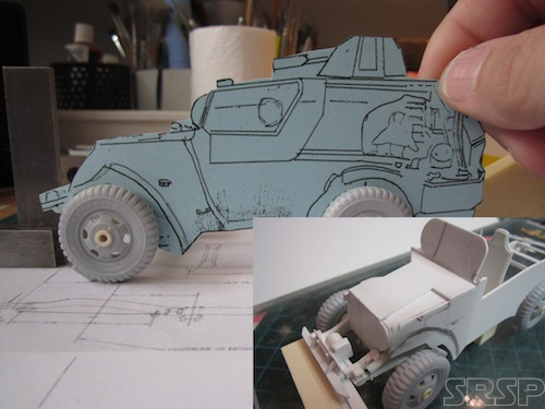 Master pattern for the 1:35th scale model kit.